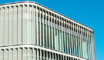 Fachada edificio TIC, El Entrego (OCA)